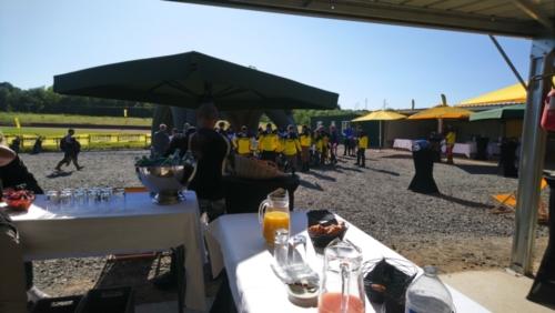 Petit-déjeuner pour l'évènement Ducati scrambler à Moto Club Mâcon